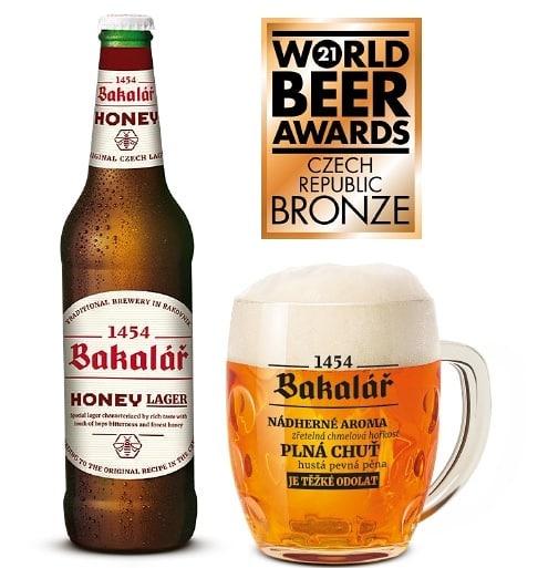 Bakalář medový špeciál bol ocenený v súťaži World Beer Awards 2021