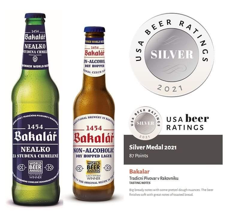 Bakalář za studena chmelený nealko bol ocenený v súťaži USA Beer Ratings