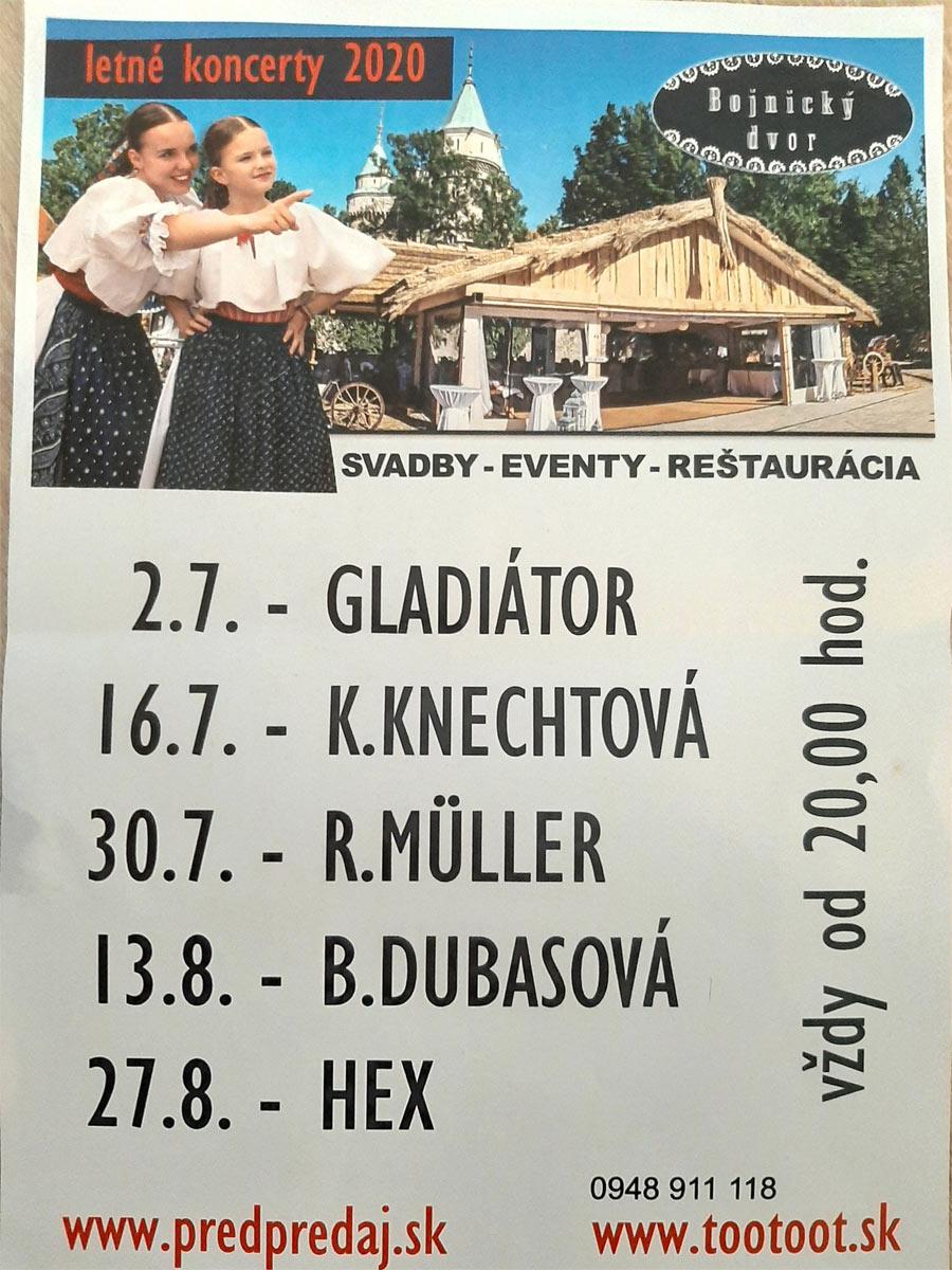 Letné koncerty Bojnický dvor