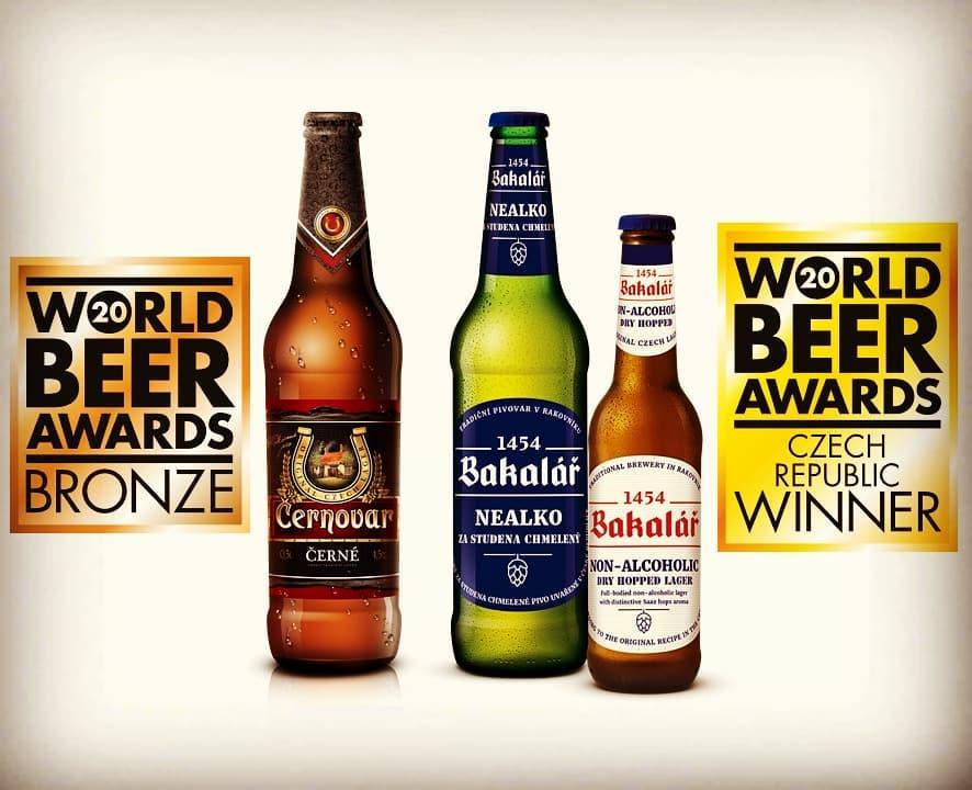 Černovar tmavý a Bakalář za studena chmelený nealko boli ocenené v súťaži World Beer Awards
